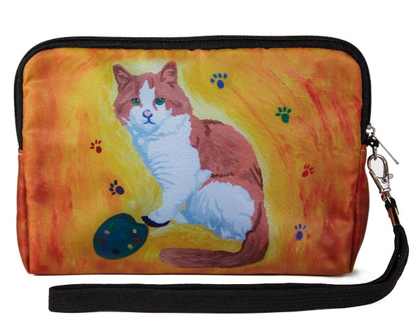 cat zip around wristlet