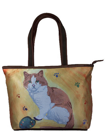 Cat Purrfect Tote - Paw in the Paint