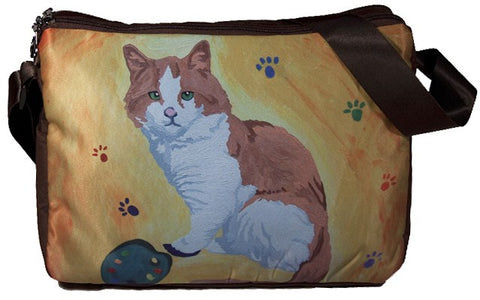 Cat Phat Cat Messenger Bag - Paw in the Paint