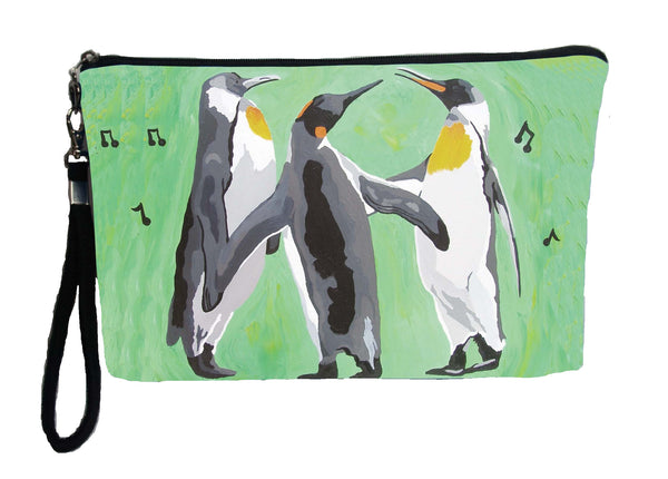 christmas singing penguins wristlet