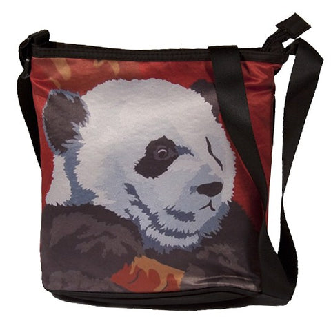large red panda cross body bag