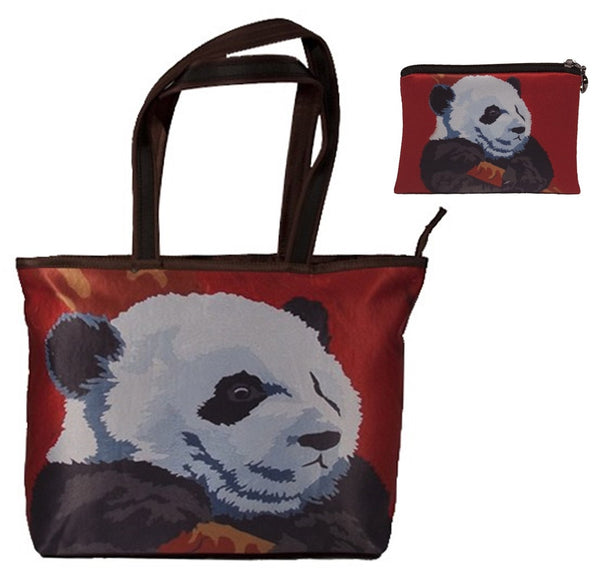 panda tote bag and matching chang purse