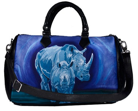 rhino vegan leather weekender carry-on bag