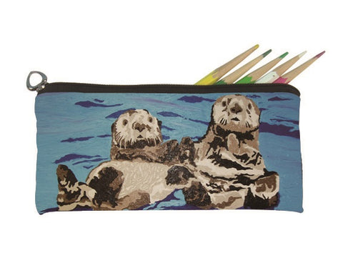 sea otter pencil bag
