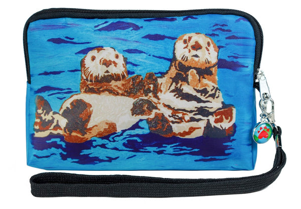 sea otter zip pouch