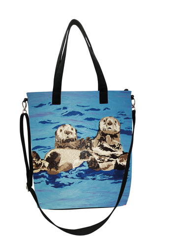 Sea Otter Canvas Shoulder Bag - Best Friends