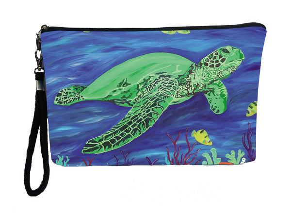 sea turtle wristlet with charm