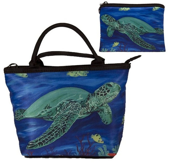 green sea turtle purse and matching coin purse