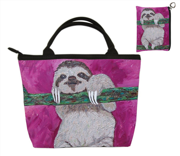 sloth purse and matching coin purse set