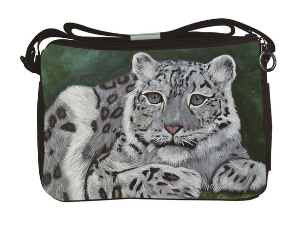 snow leopard messenge bag