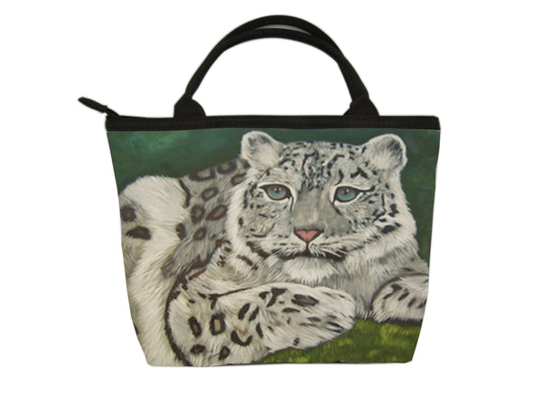 snow leopard purse