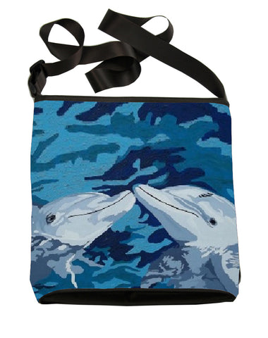 dolphins large cross body bag