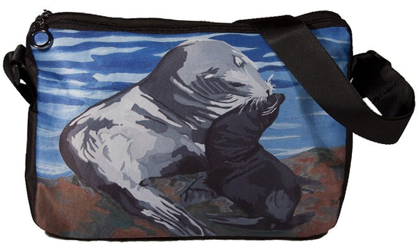 pier 39 SF sea lion messenger bag