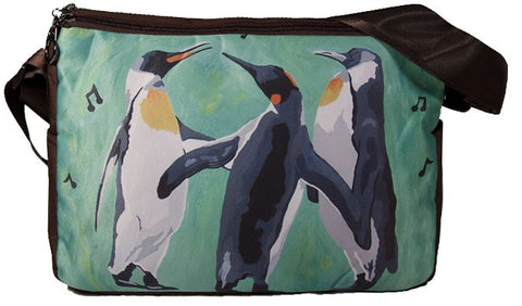 Hoilday penguins messenger bag