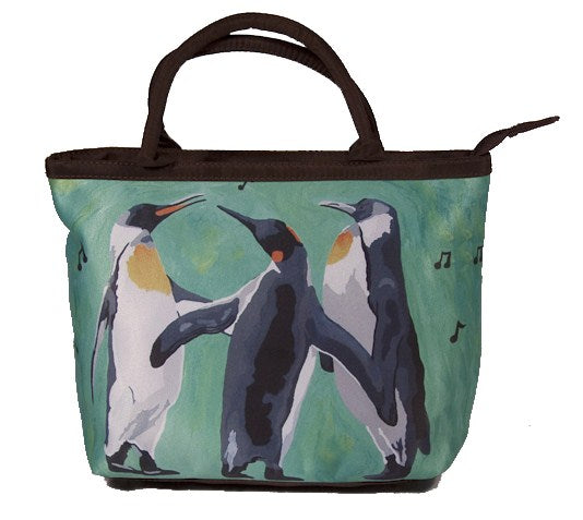 christmas hoilday penguins purse