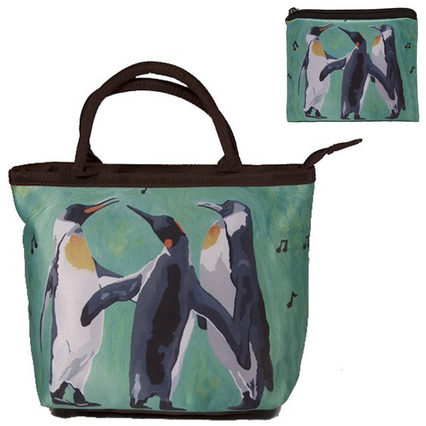 christmas penguins hoilday bag matching set