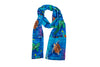 Sea Turtles Animal Viscose Scarf- Green Sea Turtle and Loggerhead Sea Turtle - Wisdom and The Pilgrim