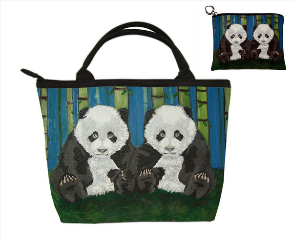 panda matching purse set
