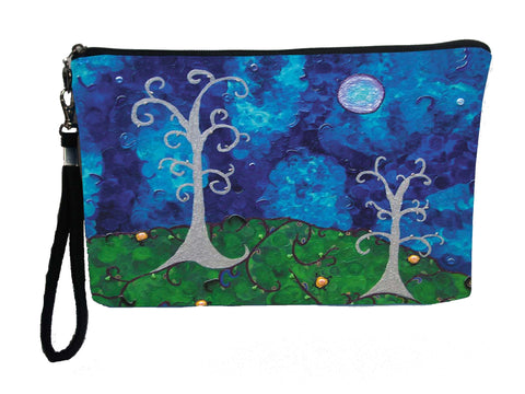 whimsical trees wristlet