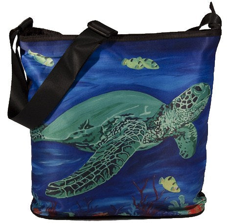 green sea turtle large cross body bag