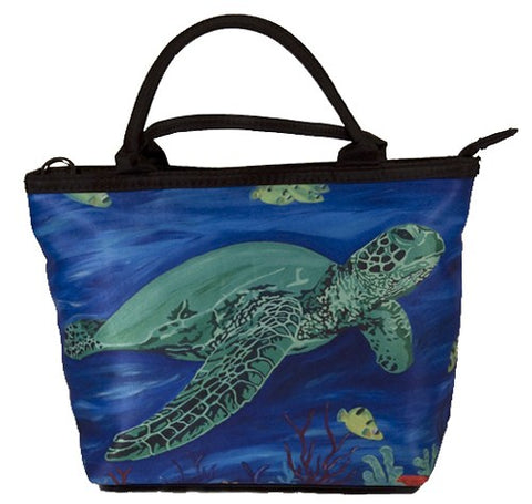 green sea turtle handbag small