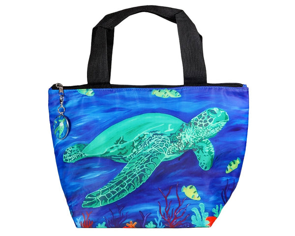 sea turtle lunch bag with charm