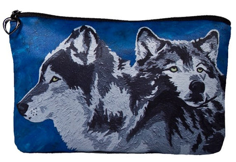 wolves make-up bag