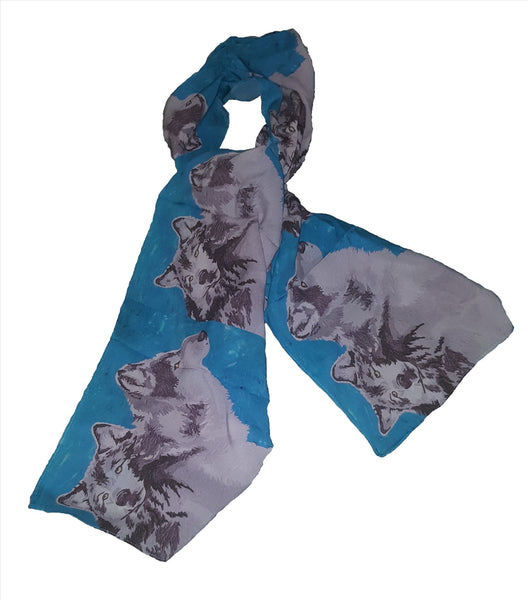 Animal Viscose Scarf- Wolves - Spirited Pack