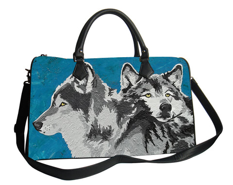 wolf weekender leather
