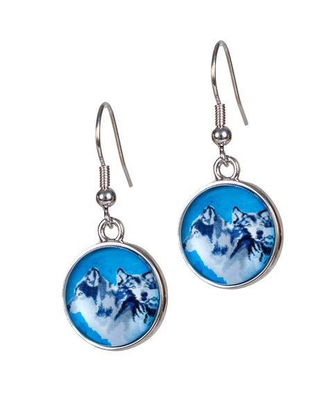 Wolf Earrings- Spirited Pack