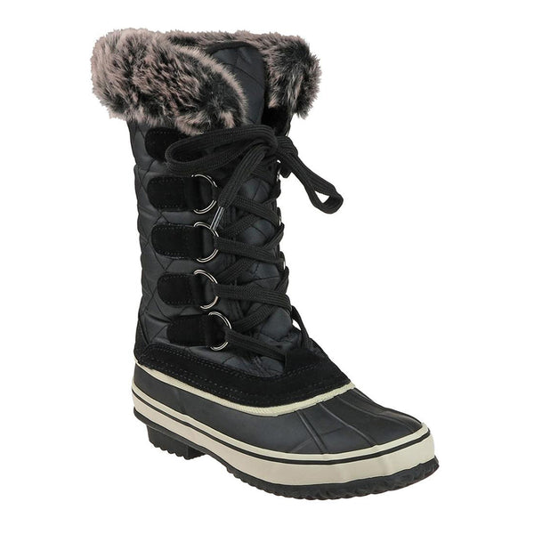 Laced Up Fur Snow Boot
