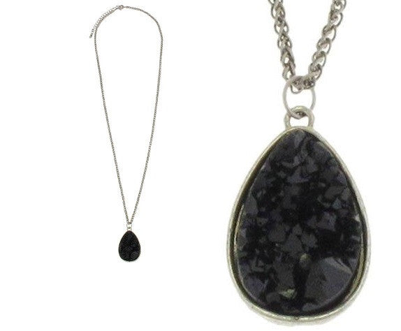 Long Black Pendant