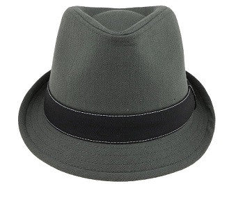 Grey and Black Fedora
