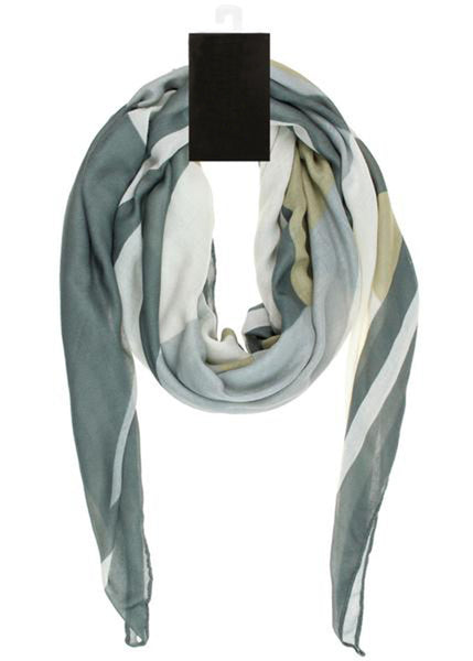One 100% Polyester Color Block Printed Poly Twill Square Scarf