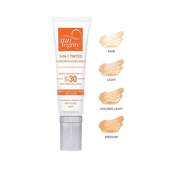 Suntegrity 5 in 1 Natural Moisturizing Face Sunscreen - Vert BeautySuntegritySun Care