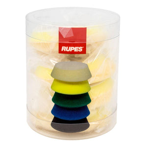 "RUPES Yellow Medium Wool Pad 40mm 1"" 4 Pads in Sleeve"