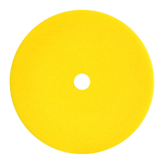 Buffing Pads:Foam Pads:Curve Edge Flat Cut Yellow Foam