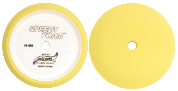 Buffing Pads:Foam Pads:CRV Yellow Flat Cut/Buff/Comp Pad