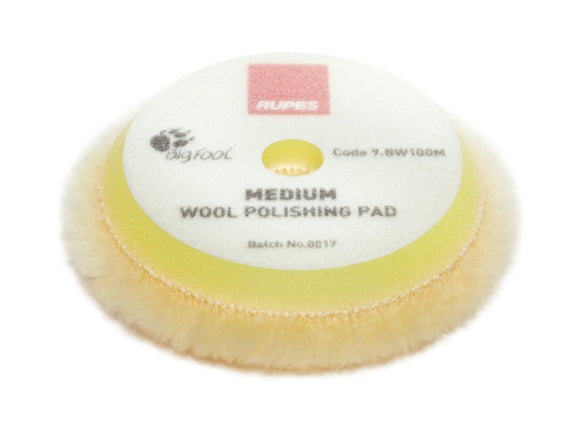 RUPES Yellow Medium Wool Pad 100mm 3