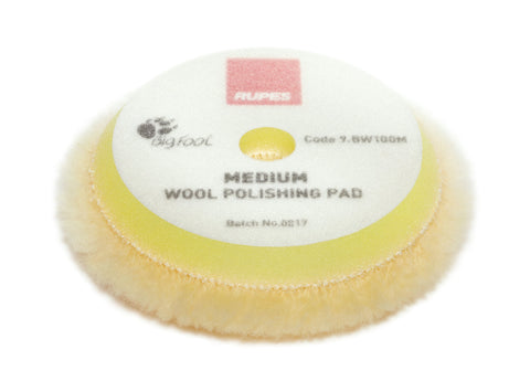RUPES Yellow Medium Wool Pad 100mm 3""