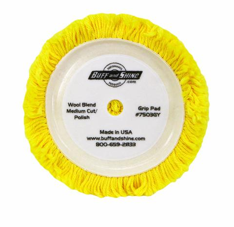 Yellow Wool Pad Lt Compounding 4ply