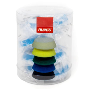 "RUPES Blue Coarse Wool Pad 40mm 1"" 4 Pads in Sleeve"