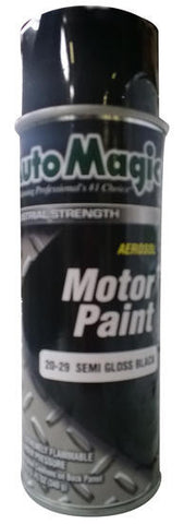Auto Magic Black Semi-Gloss Motor Paint - Aerosol