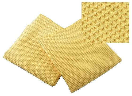 Waffle Style Microfiber Towels Gold 16 x 24