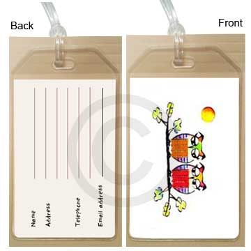 Luggagetag2owls