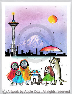 Dogs with raincoats Seattle