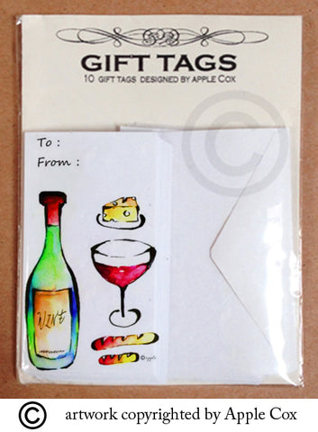 Wine&cheese gift tag