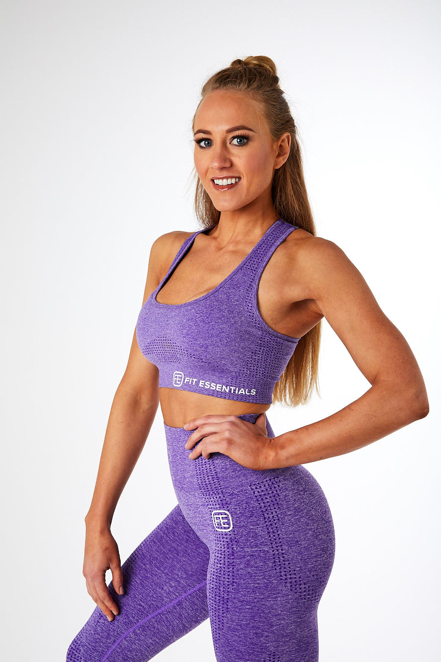 SEAMLESS SPORTS BRA VIOLET