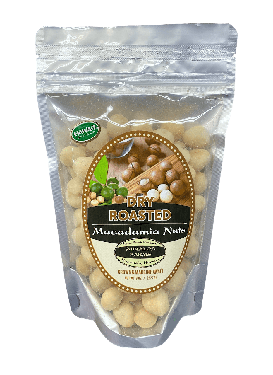 Dry Roasted Macadamia Nuts 8oz - Hawaiian Farmers Market