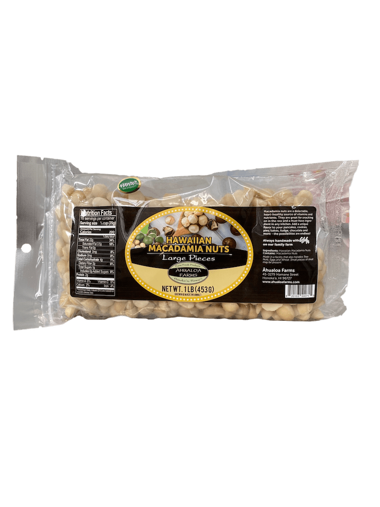 Raw Macadamia Nut Pieces 1lb - Hawaiian Farmers Market